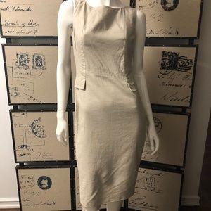 Marks & Spencer Linen Tan Cocktail Dress